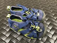 Keen Waterproof Washable Blue+Lime Green Sport Sandals Boys EU 28 Size 10 GUC