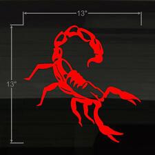 "Scorpion STANCE! Design LARGE 13x13"" Durable RED Vinyl Decal Sticker Scorpian"