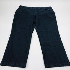 JM Collection Womens Petite Plus Size Stretch Denim Jeans Sz 22WP Dark Wash
