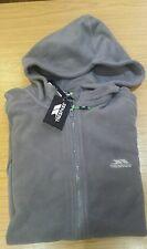 mens designer trespass zip fleece sweatshirt colour grey size Large sale cheap