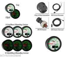 GlowShift MaxTow Double Vision White Oil Pressure Gauge MT-WDV04