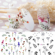 3D Nail Stickers Adhesive Flowers Leaves Leaf Nail Art Decal Manicure Decoration