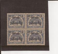 BURMA-Nice overprinted/surcharged older Telegraph stamp