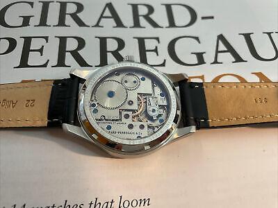 Rare Antique Girard Perregaux Movement Swiss Made Case Sapphire Glass