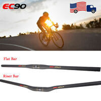 EC90 Moutain Bike Handlebar 25.4/31.8mm 3K Carbon Fiber Flat/Riser Ultralight ba