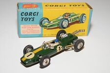 \ CORGI TOYS 155 LOTUS CLIMAX F1 RACING CAR GREEN NEAR MINT BOXED