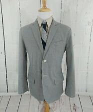 Old Navy Mens Seersucker Blazer Jacket L 42R Slim Fit Sport Coat 2 Button Cotton