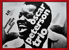 Original KONZERTPLAKAT Oscar Peterson Trio, 1971, Entwurf G. Kieser