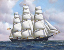 Jacobsen Antonio The American Clipper Ship Flying Cloud At Sea Under Ful   #5098