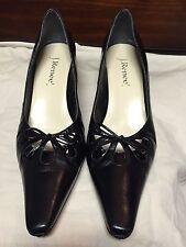 J.Renee Felissa Black Leather Pump Heels Size 12N