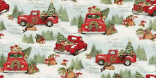 Springs Creative Christmas Home Red Truck Scenic 69123A620715 Multi fabric