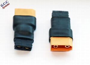 Convert LiPo XT90 Batteries To Traxxas Connectors / ESC - Set of 2 - Brand New