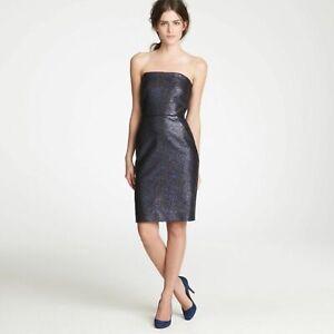 J.Crew Collection NWT Nightwatch Metallic Strapless Dress Women's Size 0