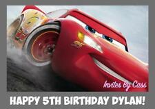 CARS LIGHTNING MCQUEEN A4 EDIBLE IMAGE CAKE TOPPER BIRTHDAY PARTY KIDS