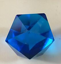 Electric Blue cut Crystal Paperweight