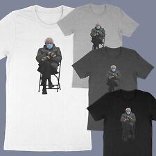 Bernie Mood Funny Meme Inauguration Grumpy Sanders Mittens Unisex Tee T-Shirt