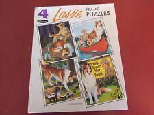 Vintage 1966 Whitman Lassie Collie Dog Frame-Tray Puzzles (4)