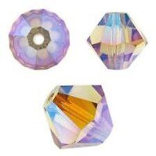 Swarovski Crystal Bicone. Light Colorado Topaz AB 2X. 6mm. Approx. 48 PCS. 5328