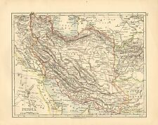 1897 VICTORIAN MAP ~ PERSIA ~ LARISTAN KERMAN KHORASAN AFGHANISTAN