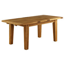 GENUINE SOLID OAK EXTENDING DINING TABLE /KITCHEN TABLE 1800mm-2300mm CHUNKY OAK