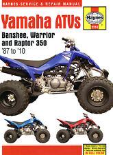 Haynes Manual 2314 - Yamaha Banshee, Warrior & Raptor ATVs/Quads Service/Repair