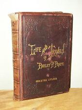 LIFE AND TRAVELS OF PARLEY P PRATT 1888 Full Leather Mormon Utah Book 2nd ED