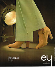 PUBLICITE ADVERTISING 064  1978  HEYRAUD    boots  TRACAS