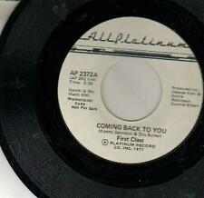 45 JUKEBOX SINGLE FIRST CLASS COMING BACK TO YOU   SOUL