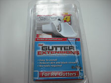 RV - Motorhome - Rain Gutter Extensions - Attach to your Gutter - White - Set 4