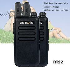 2pcs Retevis Uhf Rt22 400-480Mhz 16Ch Ctcss/Dcs Vox Scan Squelch 2 Way Radio Hot