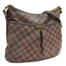Auth LOUIS VUITTON Damier Ebene Bloomsbury PM N42251 Crossbody Bag Brown Canvas