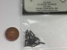 Wood Screws 20pk Black #1045, Doll House Miniature