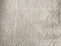 NEW Pine Cone Hill Scroll Matelasse Coverlet -- Queen, White.  FREE SHIPPING