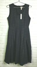 Modern Vintage Womens Sz S Tartan Plaid Pinup Rockabilly Madmen Schoolgirl Dress