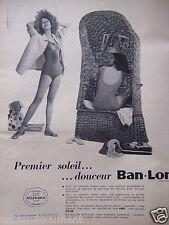 PUBLICITÉ 1958 DOUCEUR BAN.LON MAILLOT DE BAIN EMO CHEMISE ERAM - ADVERTISING