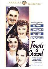 Four's a Crowd 1938 (DVD) Errol Flynn, Olivia de Havilland, Rosalind Russell-New