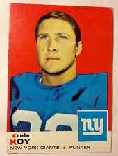 1968 Ernie Koy New York Giants  Topps #131 NFL Football Card Gifford Tarkenton