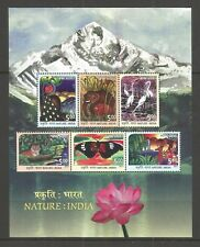 INDIA 2017 NATURE MINISHEET  UM/M NH LOT L310