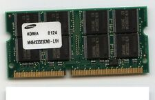 Memoria RAM 256mb Samsung SDRAM SO-DIMM 16 Chip pc100 100mhz 144pin Memory
