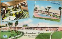 Sylvania, GA 1950s Postcard: Dreamland Motel & Restaurant Interior - Georgia