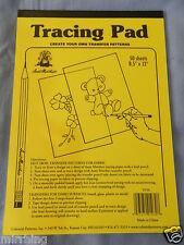 """Tracing Pad / Paper for Hot Iron Transfer - 50 sheets 8.5"""" x 12"""" - Aunt Martha's"""
