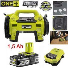 Ryobi One + 18 V Batterie Compresseur Pompe à Air Ballon voiture pompe r18i -0 +1,5 Ah Batterie
