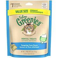 Feline Greenies Dental Treats For Cats Tempting Tuna Flavor 5.5 Oz.