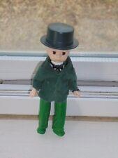 "McDonalds Toy Alexander Doll Boy with Green Top Hat Felt Coat Plastic Body 5"""