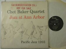"CHET BAKER QUINTET ""JAZZ AT ANN ARBOR""-PACIFIC JAZZ 1203 DG-MARKED PROMO"