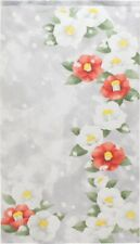Noren Hanging curtain Japanese Flower Camellia and Snow Lace Made in japan