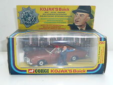 Corgi 290 Kojak Buick Regal w/BALD KOJAK Boxed *original*