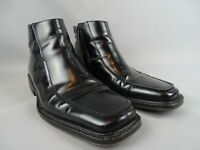 Russell and Bromley Black Brosnan Mens size UK 8, Zip Side Black Leather EU42