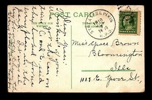 1910 Streator & Pekin RPO Card - L28524