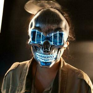 Halloween LED Scary And Horror Skull Mask Glow Cold Parties Light Gift NICE C4F7